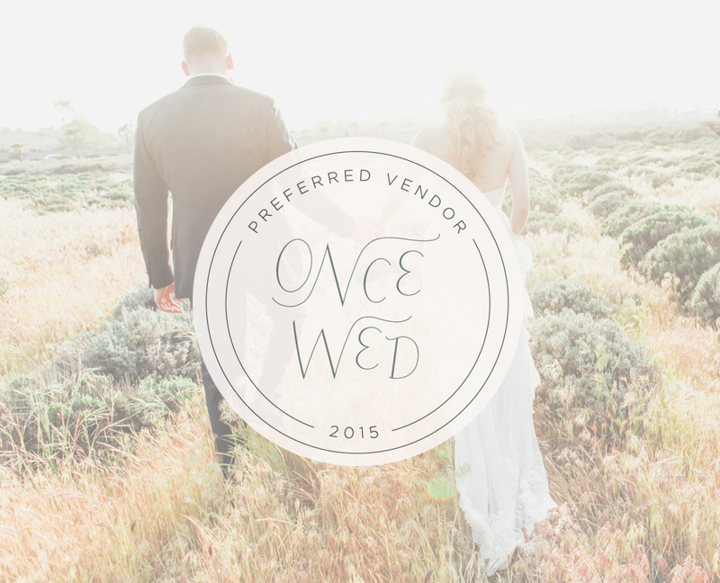 Once Wed Preferred Vendor - Los Angeles Wedding Photographer